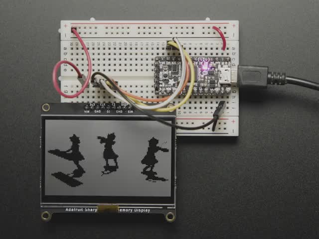 "Adafruit SHARP Memory Display Breakout - 2.7"" 400x240 Monochrome"