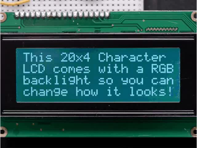 RGB backlight negative LCD 20x4 + extras